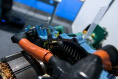 Opened switch gear of a car Stock Images