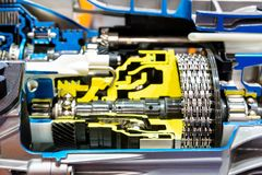 Opened switch gear of a car Royalty Free Stock Image