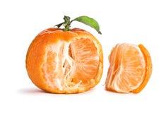 Opened tangerine Stock Image