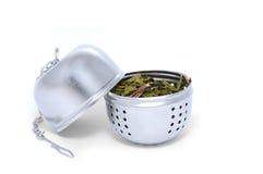 Opened tea Strainer stock photography