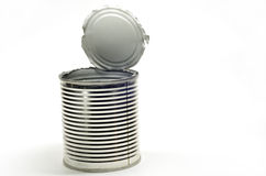 Opened tin can Royalty Free Stock Photo