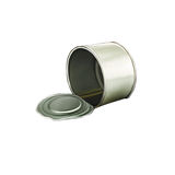 Opened Tincan Ribbed Metal Tin Can, Canned Food Stock Photography