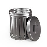 Opened trash can Stock Image