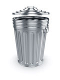 Opened trash can Royalty Free Stock Images