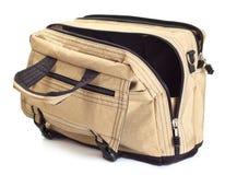 Opened travel bag Stock Photo