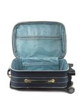 Opened travel case royalty free stock image