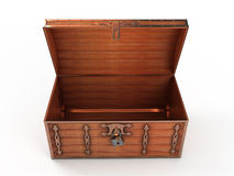 Opened treasure chest Royalty Free Stock Photography
