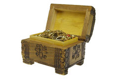 Opened treasure chest Stock Image