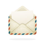 Opened vintage mail envelope Stock Photo