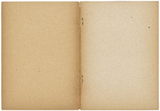 Opened vintage note book Royalty Free Stock Images