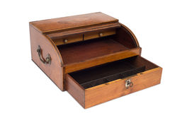 An Opened VIntage Wooden Cash Register Drawer Royalty Free Stock Photos