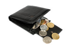Opened Wallet With Coins Royalty Free Stock Photo