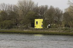 Europe, Netherlands south Holland, Rotterdam harbour,, Quarantine Beneden Heijplaat. Opened in 1934, it was the most modern quarantine facility in the world stock photos