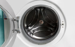Opened washing machine Royalty Free Stock Image