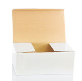 Opened white big papaer box Stock Images