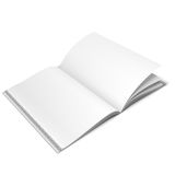 Opened White Book Template Royalty Free Stock Photo