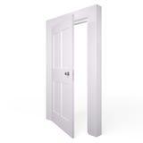 Opened white door, 3D Stock Image