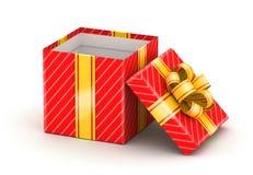 Opened white gift box Stock Photo