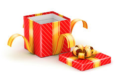 Opened white gift box Royalty Free Stock Images