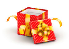 Opened white gift box Royalty Free Stock Photography