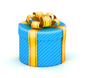 Opened white gift box Royalty Free Stock Photo