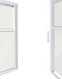 Opened window isolated on the white background Stock Photos