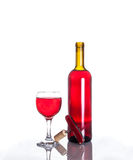 Opened wine bottle Stock Photography
