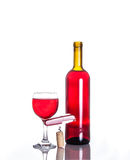 Opened wine bottle Stock Images