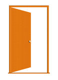 Opened Wood Door Illustration. Illustration of a open wooden door isolated on a white background royalty free illustration