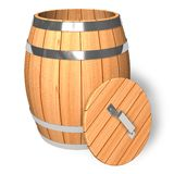 Opened wooden barrel Royalty Free Stock Photos