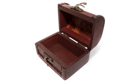 Opened wooden box Stock Photography