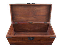 Opened wooden chest Royalty Free Stock Photography