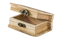 Opened wooden chest Royalty Free Stock Image