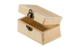 Opened wooden chest Royalty Free Stock Images