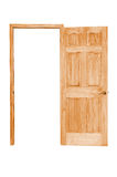 Opened wooden door Royalty Free Stock Photo