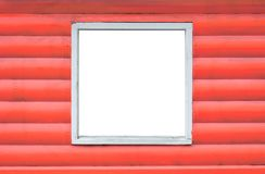 Opened wooden window on pink or coral wooden wall isolated royalty free stock images