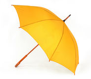 Yellow umbrella on a white background Stock Images