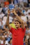 Openen de Federer gewonnen V.S. 2008 (179) Stock Foto
