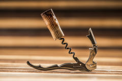 Opener bottle and cork Royalty Free Stock Photography