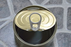 Opener of empty food can Royalty Free Stock Photo