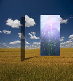 Opening. Of light in field Stock Image