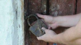 Opening barn lock stock video footage