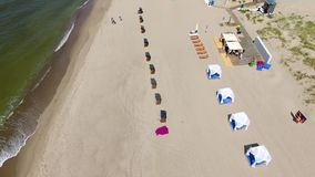 Opening of the beach season in Yantarny resort town stock footage