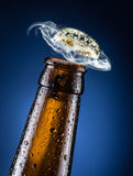 Opening of beer cap. Stock Photography