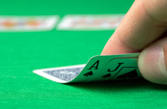 Opening blackjack Royalty Free Stock Images