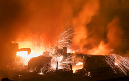 Opening of the blast furnace Stock Photography