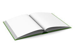 Opening book on white background. 3D image Royalty Free Stock Image