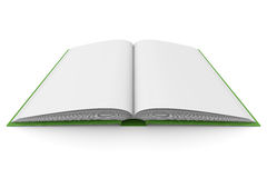 Opening book on white background. 3D image Royalty Free Stock Photography
