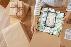 Opening boxes Royalty Free Stock Images