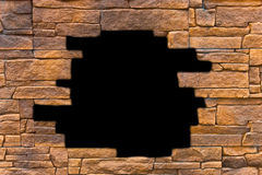 Opening in a brick wall Royalty Free Stock Photo